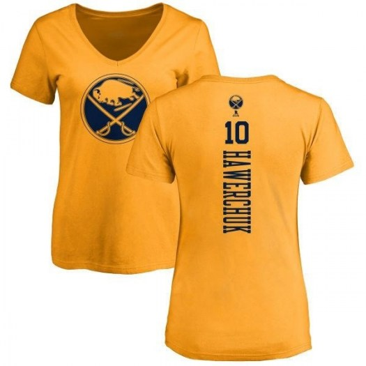 Dale Hawerchuk Buffalo Sabres Women's Gold Branded One Color Backer T-Shirt -